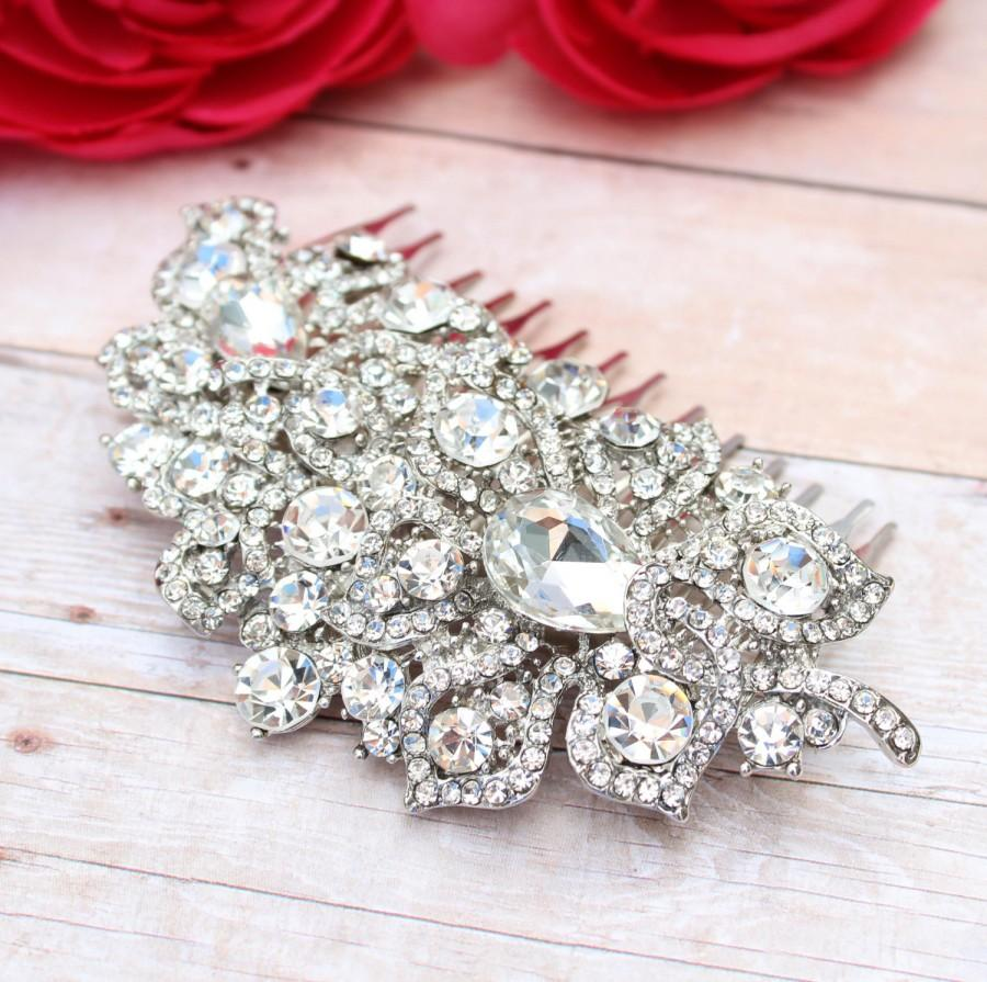 زفاف - Bridal Hair Comb - Wedding Hair Comb - Bridal Accessories - Bridal Hair Accessories - Rhinestone Hair Comb - Bridal Tiara - Wedding Hair A15