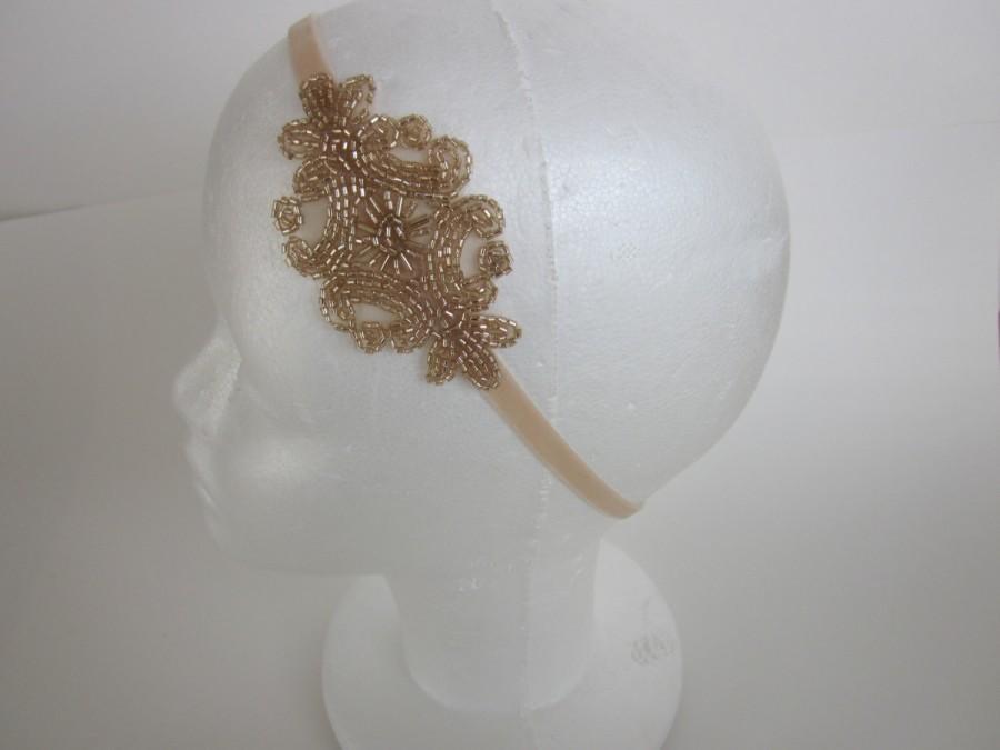 Mariage - ON SALE / 1920's Flapper headband, headband mariage, 1920s headband, annees 20 1920s dresses, gatsby headpiece