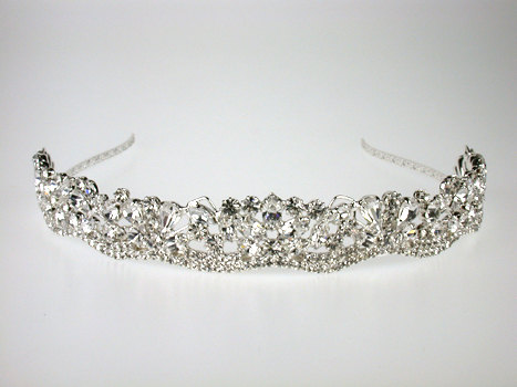 Mariage - Wedding Tiara - Rhinestone Tiara - Josephine Bridal Tiara with Bohemian Rhinestones - Bridal Hair - Wedding Jewelry