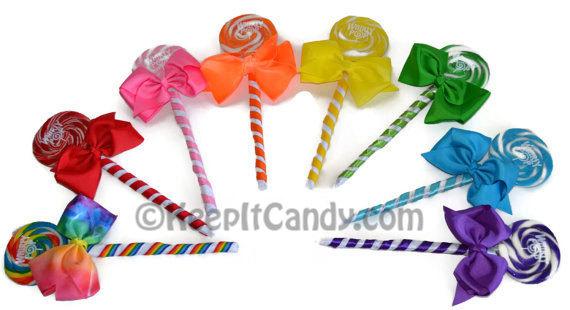 Mariage - Custom Bridesmaid Single Lollipop Candy Bouquet, Bridesmaid Lollipop, Bridesmaid Candy, Bouquet, Candy Wedding, Lollipop Bouquet, Wedding