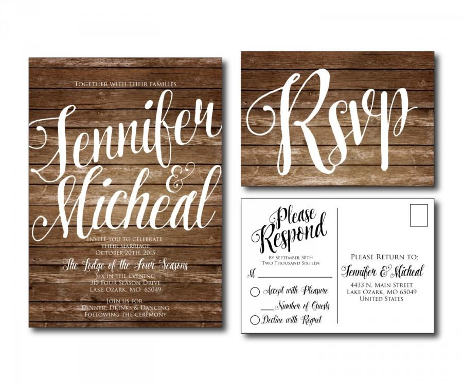 Rustic Wedding Invitation Country Chic Fall