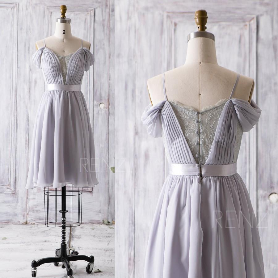 2016 grey bridesmaid dress short v neck lace wedding dress off 2016 grey bridesmaid dress short v neck lace wedding dress off the shoulder formal dress prom dress cocktail dress knee length z080 ombrellifo Image collections