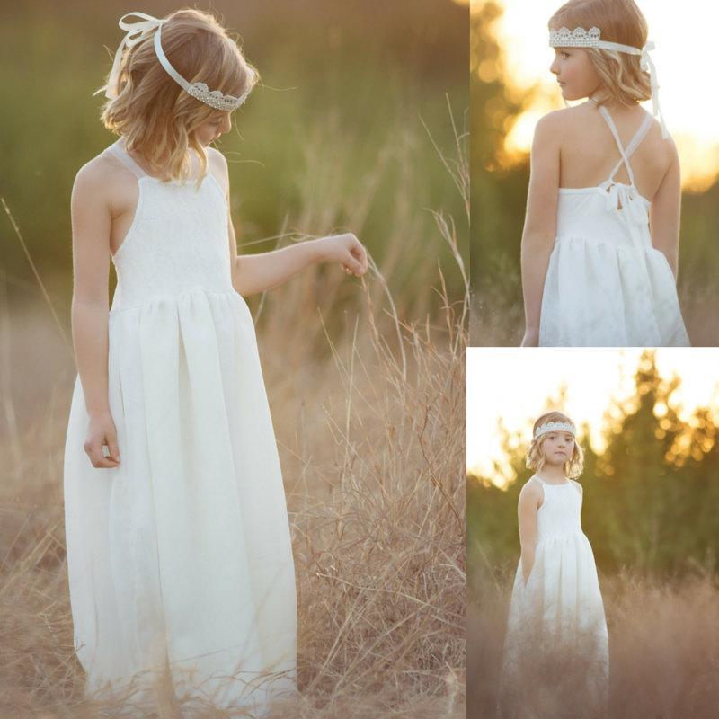 dac88651b Rustic Lace Flower Girl Dress, Pocket Dress, Lace Girls Dress, Country  Flower Girl Dress, Flower Girl Dres, Rustic Flower Girl Dress, Boho. 48.  Wedding ...