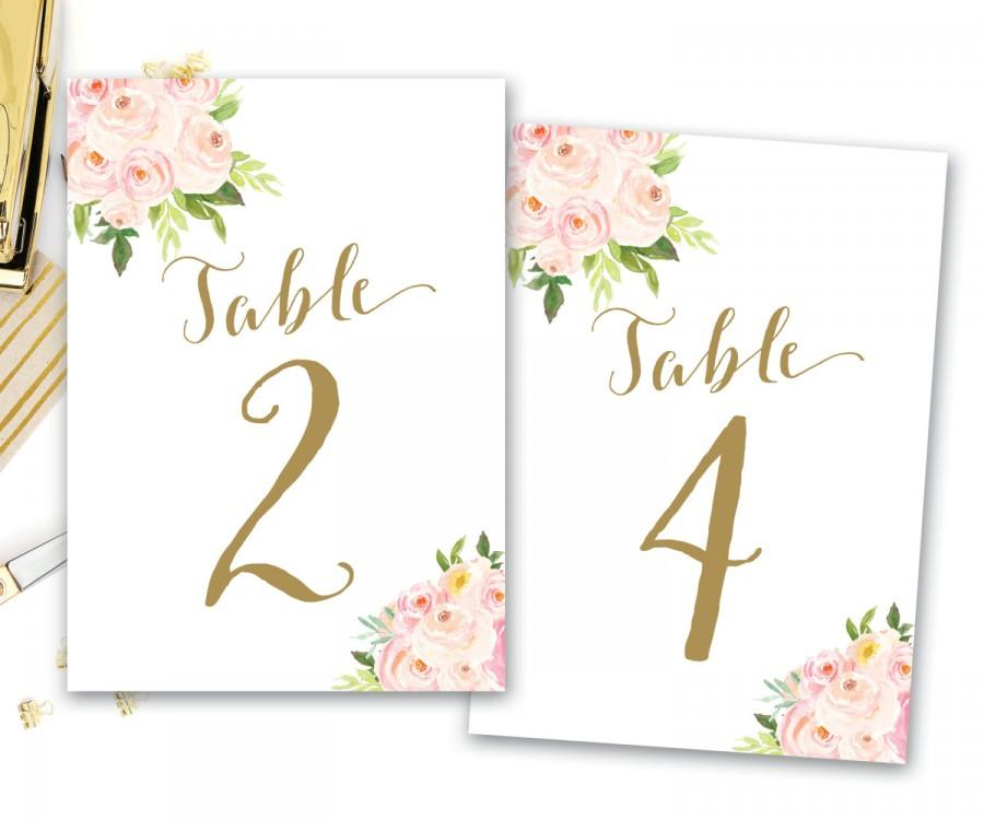 photo relating to Printable Table Number referred to as Printable Desk Quantities Floral, Floral Desk Quantities, Boho