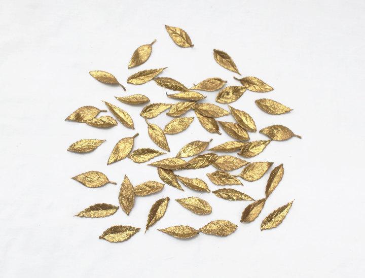 Mariage - Gold Leaf Confetti - Wedding Table Decoration, Gold Leaf Decor, Table Decor, Gold Confetti, Weddings, Gold Leaves, Cake Table Decor, Gold