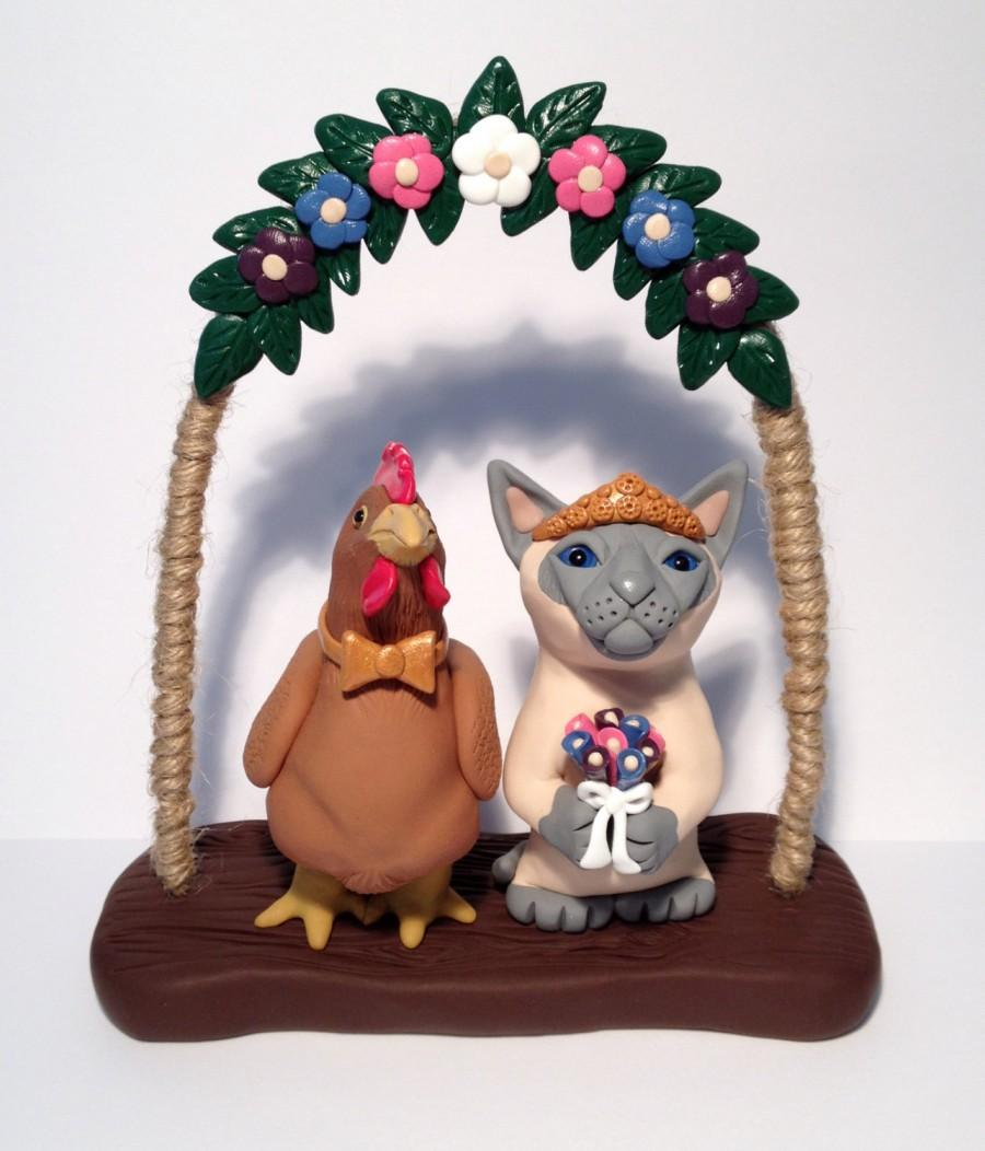 Mariage - Wedding Toppers - Custom Sculptures - by Peculiar Pals