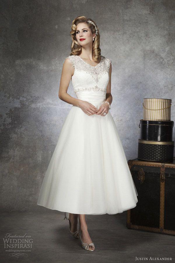 Свадьба - Tea Length Gown