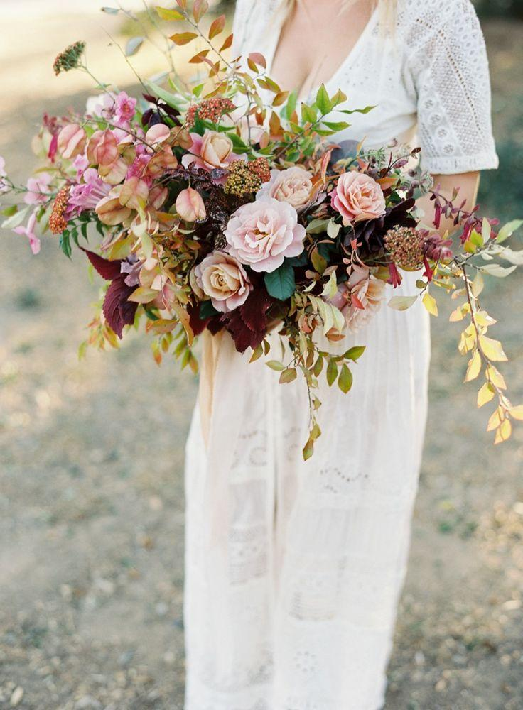 Свадьба - Multicolored Fall Bouquets