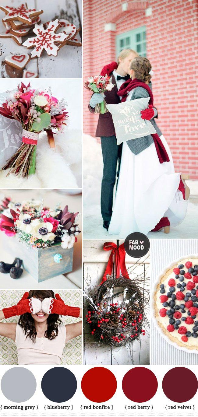 Wedding - Red Winter Wedding Ideas,red Wedding Colour Palette
