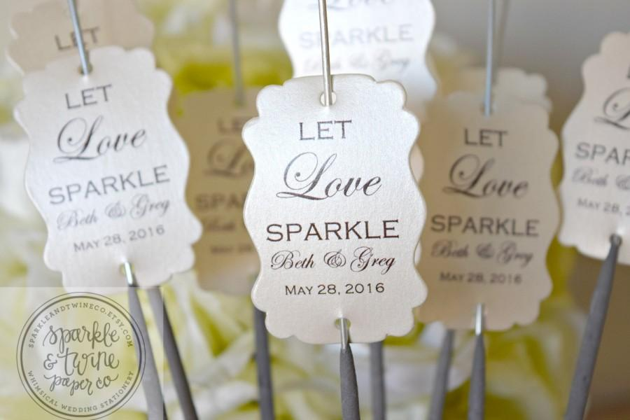 Sparkler Tags Wedding Sparklers Sleeves Let Love Sparkle Favors