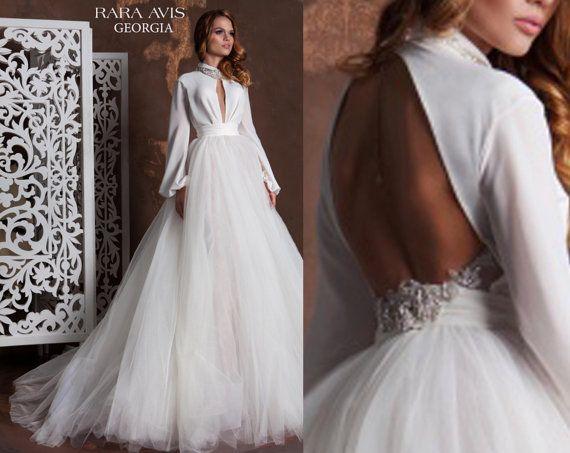Princess Ball Gown Wedding Dresses: Unique Wedding Dress GEORGIA, Bohemian Wedding Dress