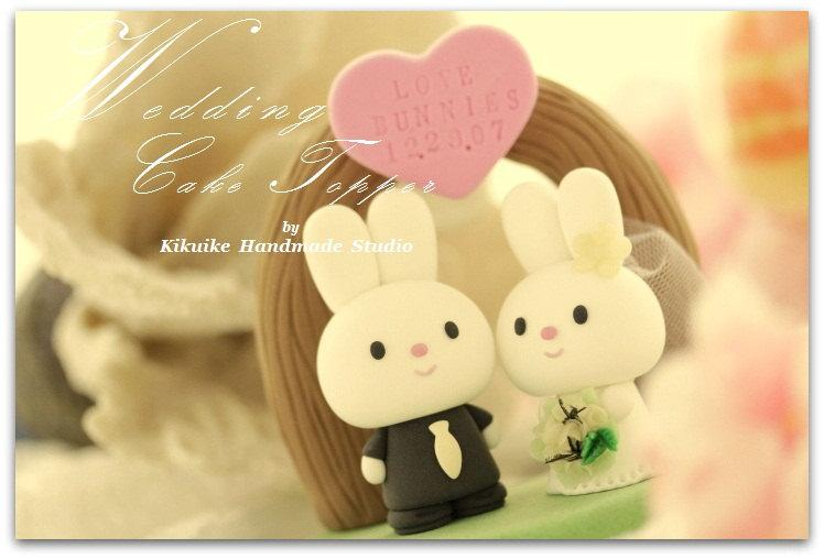 Rabbit And Bunny Wedding Cake Topper---k905 #2508996 - Weddbook