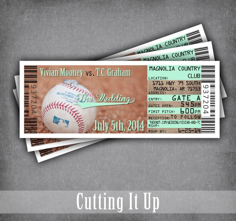 Baseball Wedding Baseball Wedding Invitations Sport Wedding