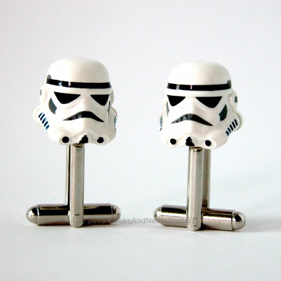 Cufflinks Wedding Lego Star Wars Stormtrooper Silver Groomsmen Mens Gift For Him Best Man Dad