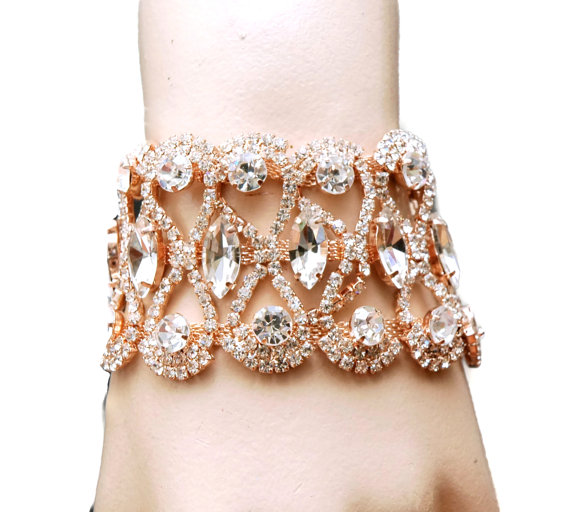 rose gold cuff bracelet wedding bracelet bridal bracelet