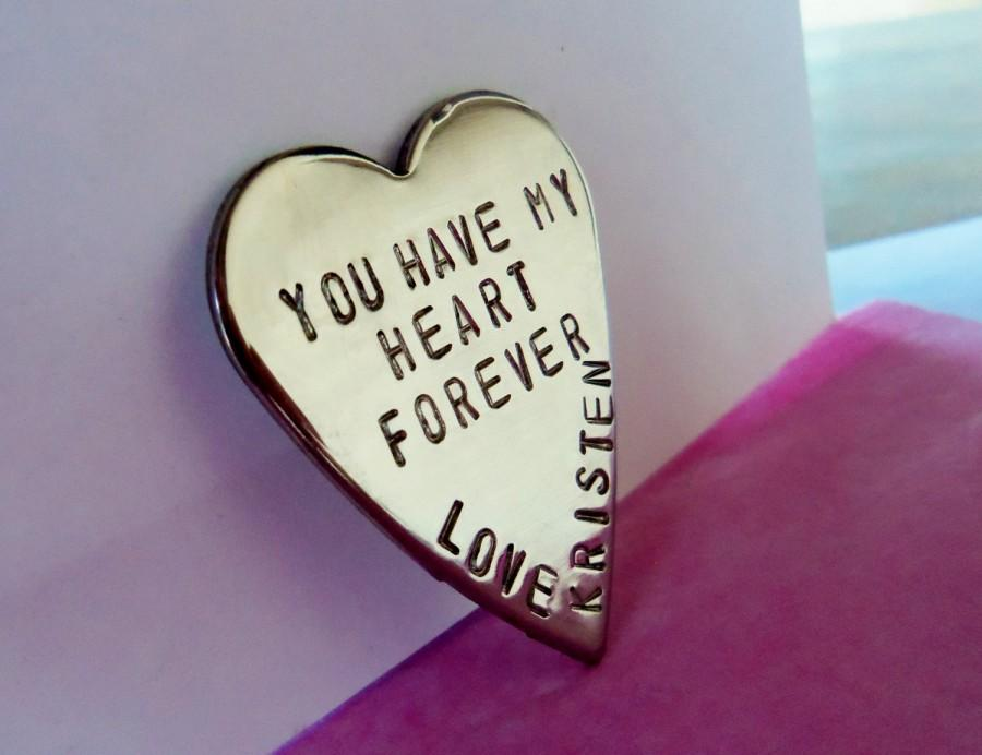 Good Wedding Gift For Bride And Groom : - You Have my Heart Good Luck Token Wedding Day Gift Bride and Groom ...
