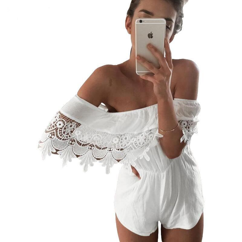 Wedding - Sexy Boho Off Shoulder  Lace Jumper – Great for an Informal Beach Wedding