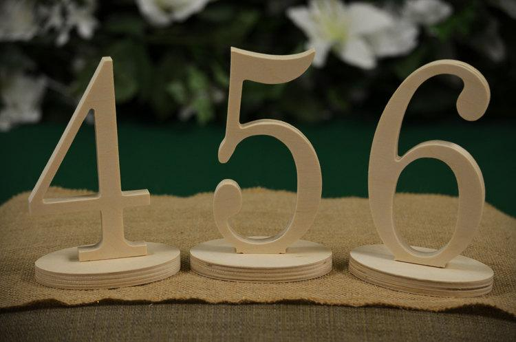 Свадьба - Table Numbers- Wedding Table Numbers- Wood Table Number- Weddings / Decor - Table Numbers- Table Number  1 to 25set