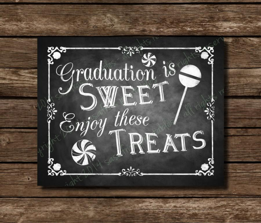 printable graduation is sweet chalkboard graduation sign or card