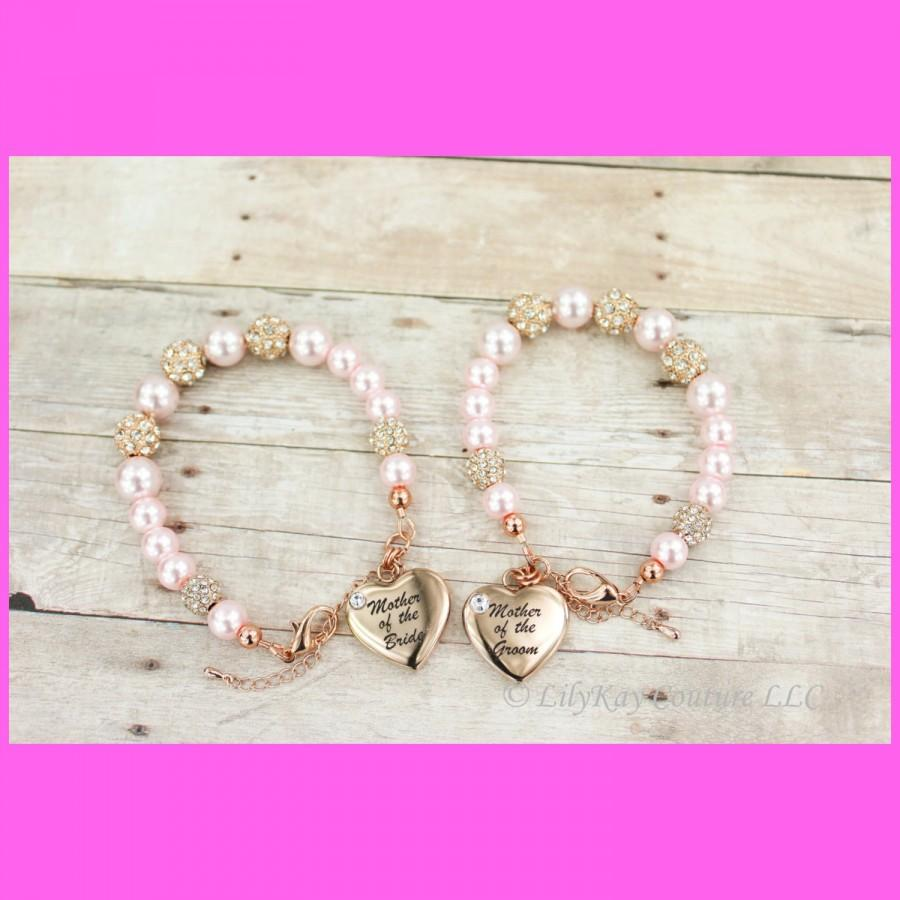 Свадьба - Mother of the Bride Gift Mother of the Groom Rose Gold Mother of the Bride Bracelet Rose Gold Bracelet MOB MOG Charm Bracelet Rose Gold MOB