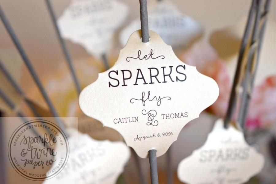 Sparkler Tags Wedding Sparklers Sleeves Let Love Sparkle Sparks Fly Favors