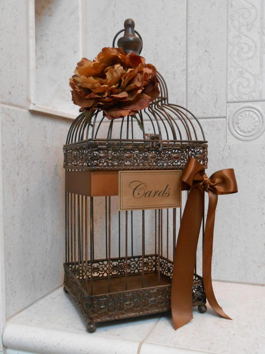 Wedding Card Box Bird Cage Wedding Card Holder Rustic Wedding