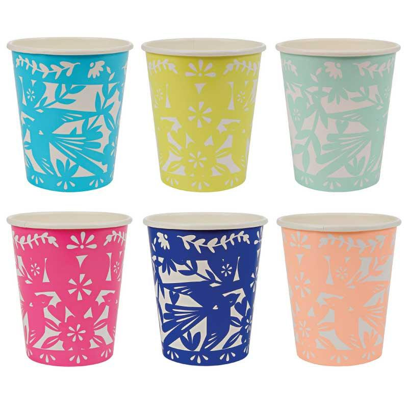 Wedding - Meri Meri Fiesta Paper Cup (12) Party Supplies Drinking Cups Toot Sweet, Cinco de Mayo Party, Rainbow Cups