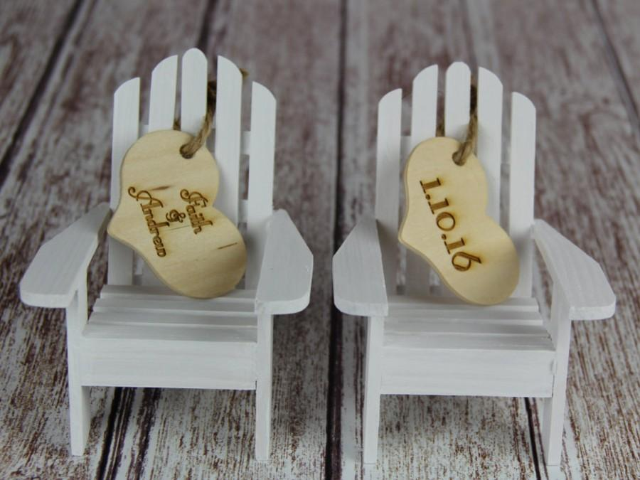 Mariage - Adirondack Chair Cake Topper, Adirondack Chair, Adirondack Wedding, Cake Topper