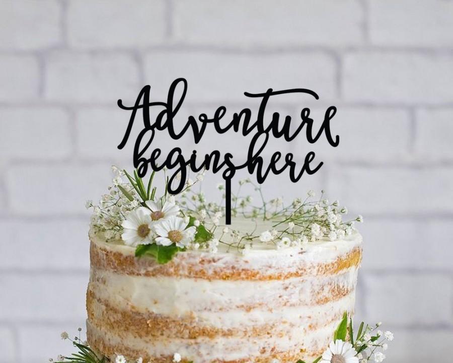 Adventure Begins Here Wedding Cake Topper 2509806 Weddbook