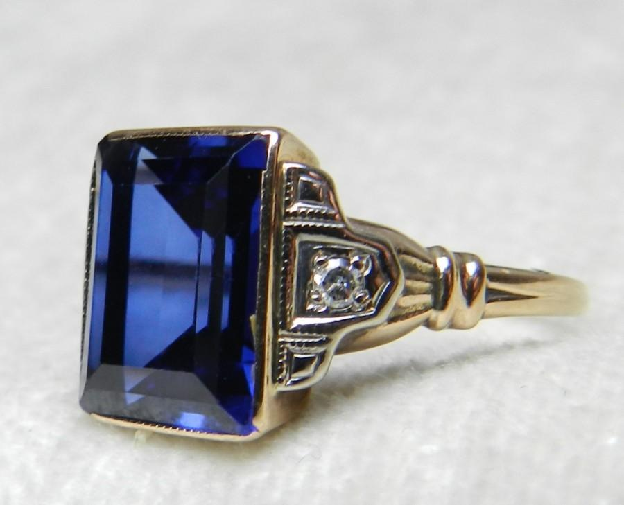 sapphire burma vintage cocktail diamond heat large rings platinum no cluster ring