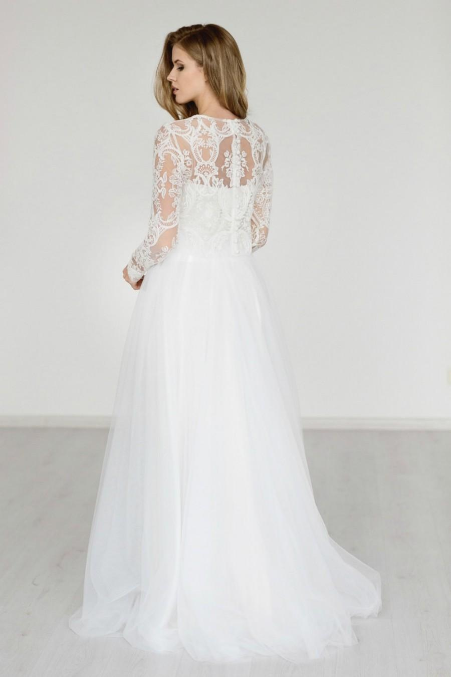 Wedding Skirt Bridal Long Tulle Champagne Ivory White With Train Separates Lily
