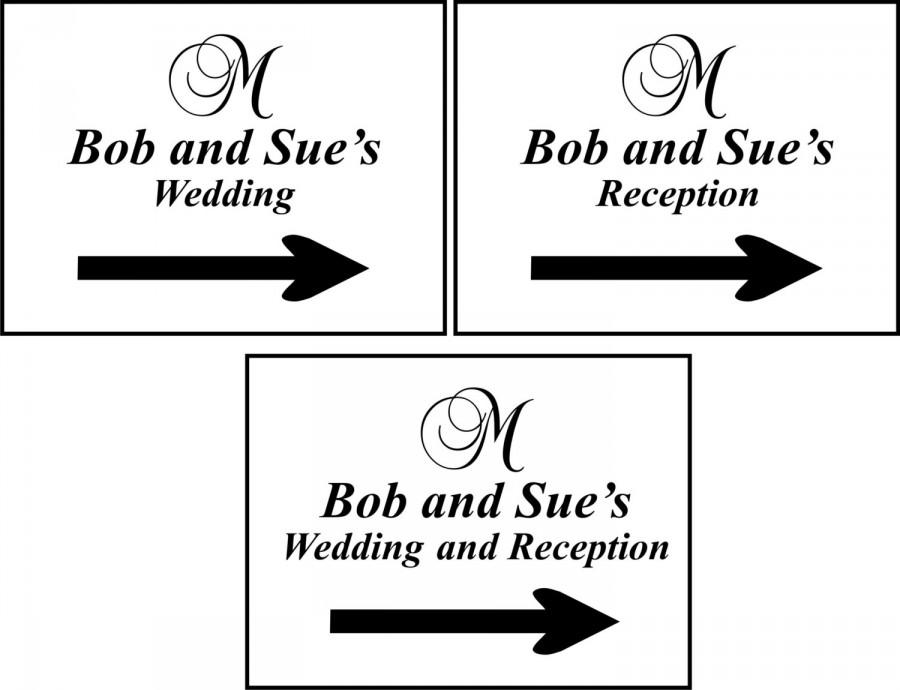 Mariage - Wedding Directional Signs