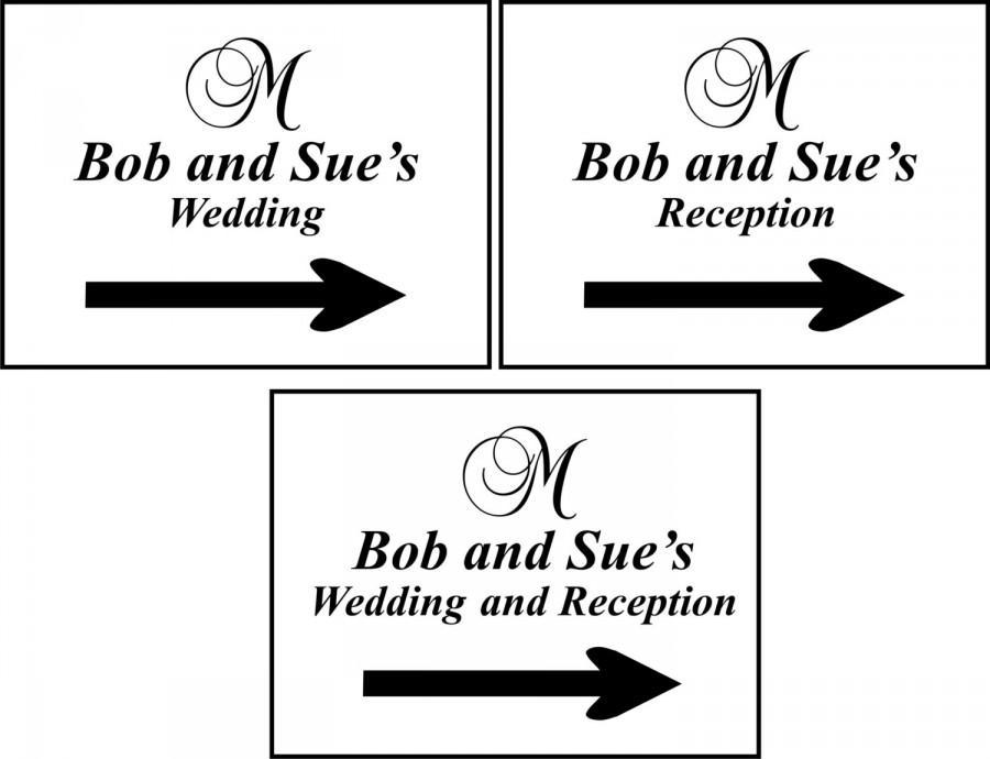 زفاف - Wedding Directional Signs