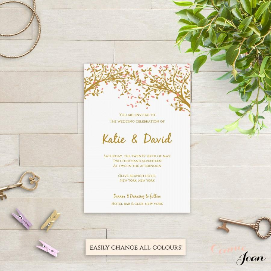 Mariage - Wedding Invitation Template Set Instant Download