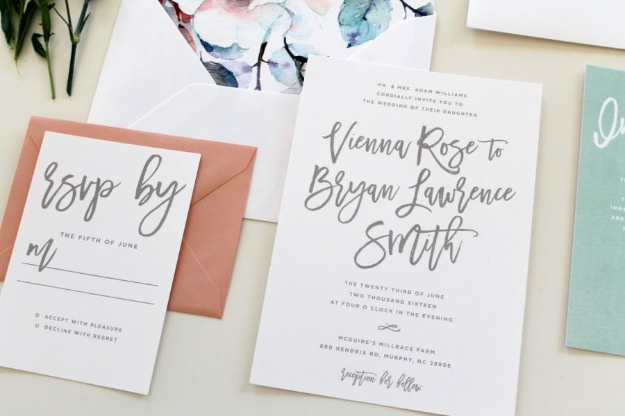 Invitation calligraphy wedding invitations weddbook