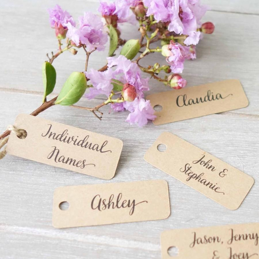 Mariage - Wedding Personalised Name Tags - Place Cards - Name Labels - Mini Tags - Engagement Party Favour - Customised Tag