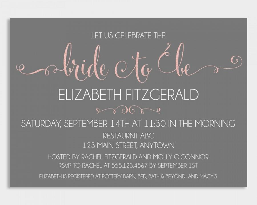 Bridal Shower Invitation Template, Bridal Shower Invitation