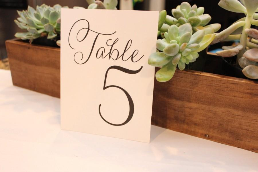 Mariage - Table Number Cards for Wedding // Party Cards // Wedding Signs // Printed Cards