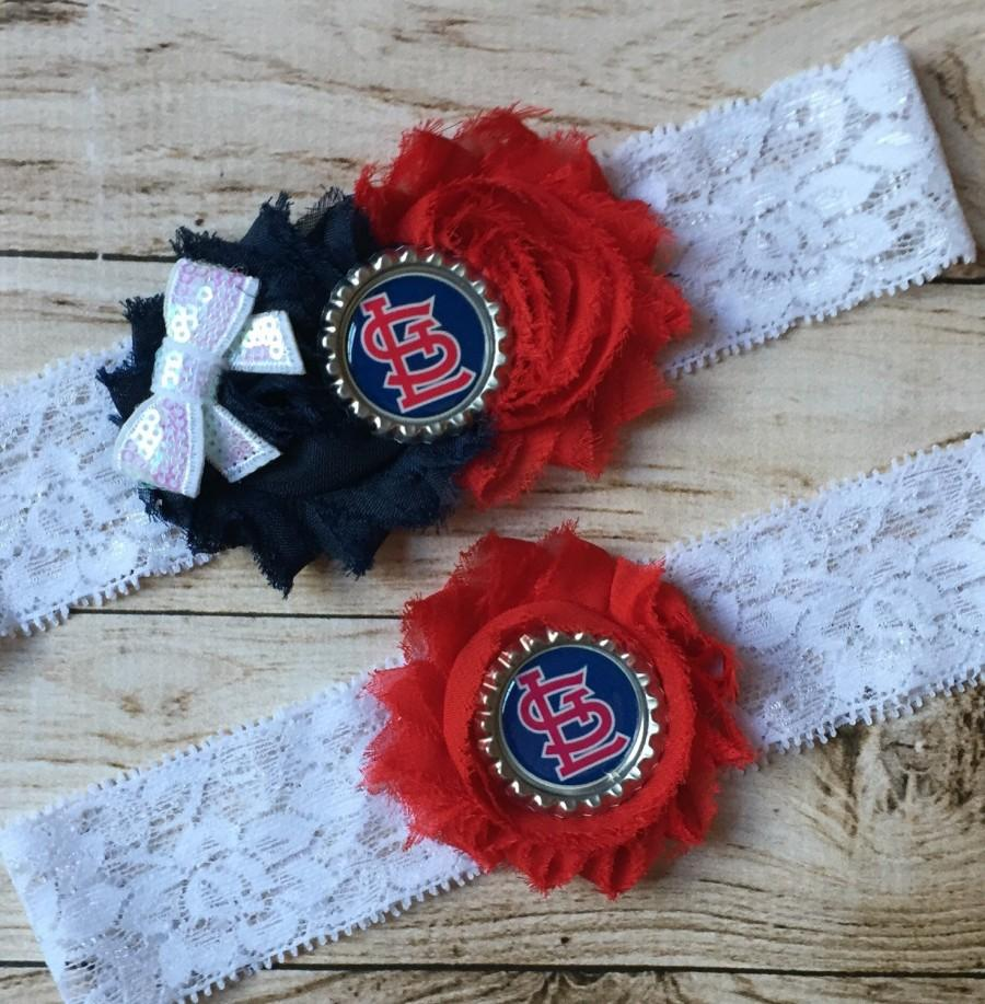 Свадьба - St. Louis Cardinals inspired wedding garter set MLB