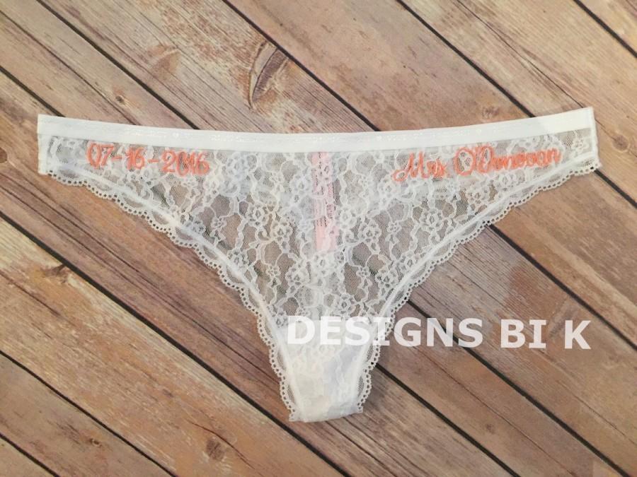 Свадьба - Wedding underwear, Custom underwear, Bridal Panties, Monogram bridal lace panties, Bridal lace panties, Bridal thongs, Custom bridal panties