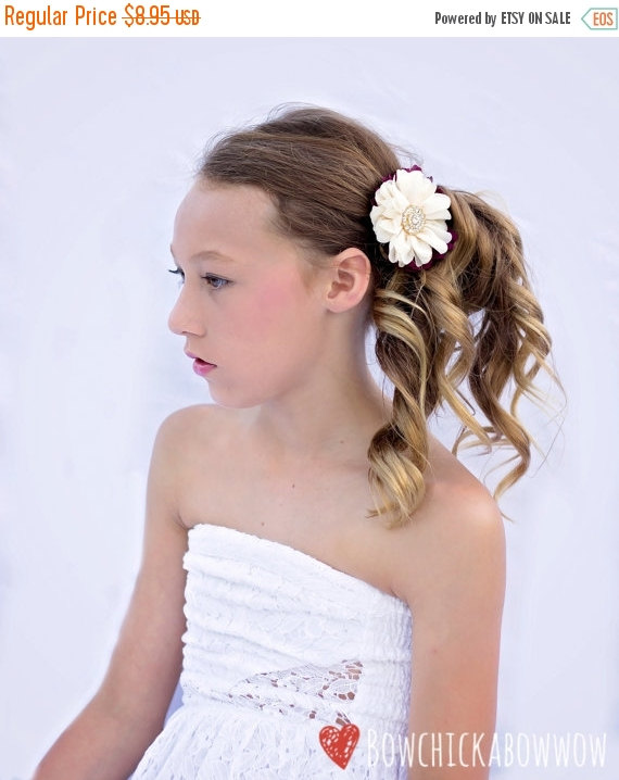 Wedding - Ivory, Plum, and Gold Fascinator, Bridal Hair Clip, Wedding Hair Flower - Luxe Chiffon with Crystal Rhinestone - Prom, Dressy, Teen Girls