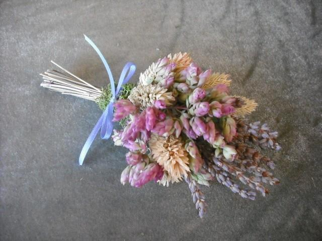 Shabby Chic All Natural Dried Flower Corsage Available In Wrist Or Pin On For A Spring Garden Rustic Nature Themed Wedding