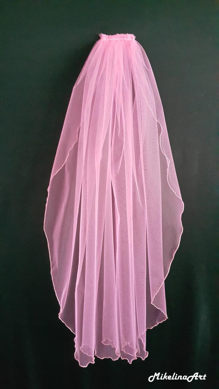 Wedding - Pink Wedding Veil