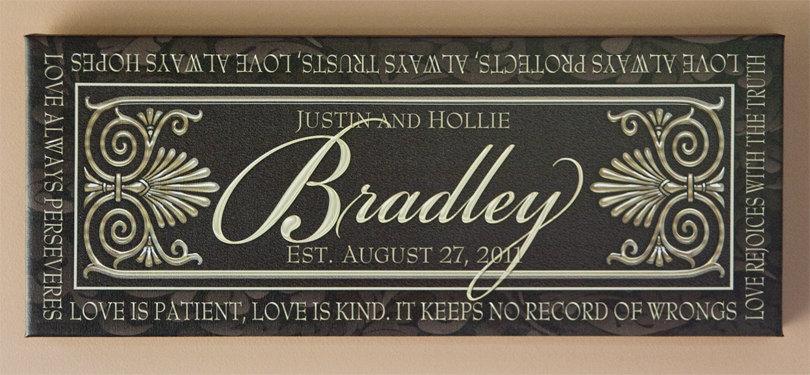 Mariage - Custom Marriage Panel Sign on Canvas