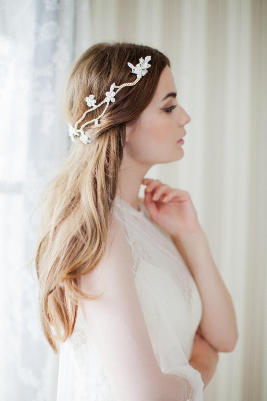Свадьба - Boho Hair Vine - Bridal Headpiece - Floral Wedding Headpiece - Boho Wedding - Bohemian Wedding - MARGO