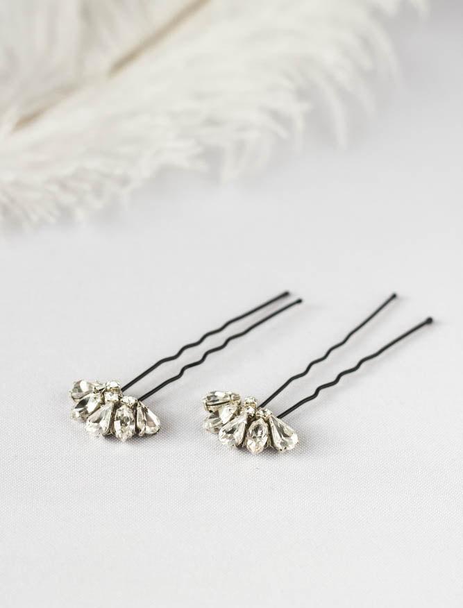 Свадьба - Swarovski Crystal Hair Pins, Hair Pins, Bridal Hair Accessories, Wedding Hair Accessories,  Bridal hair pin