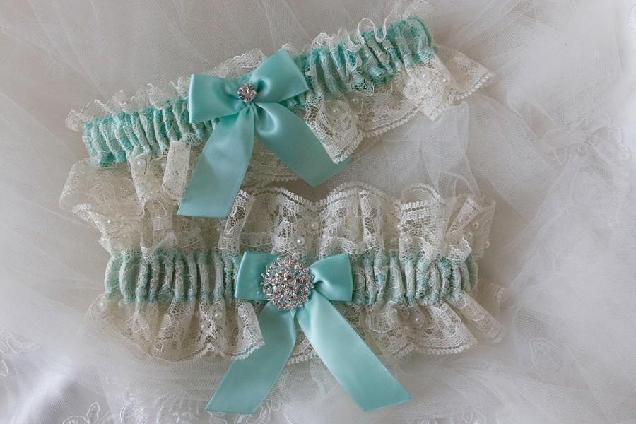 Свадьба - Wedding Garter Set, Ivory Lace Garter,Bridal Garter,Wedding Garter