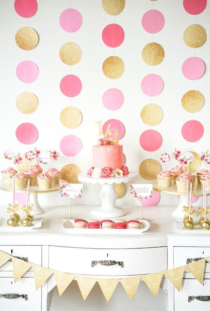 Pink Gold Half Birthday Party