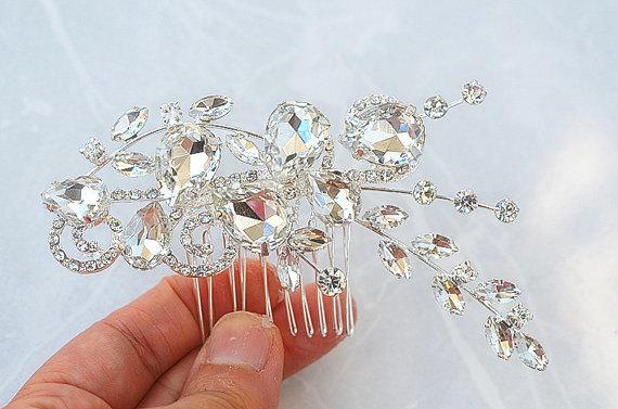 Свадьба - SALE SWAROVSKI large wedding bridal crystal head piece