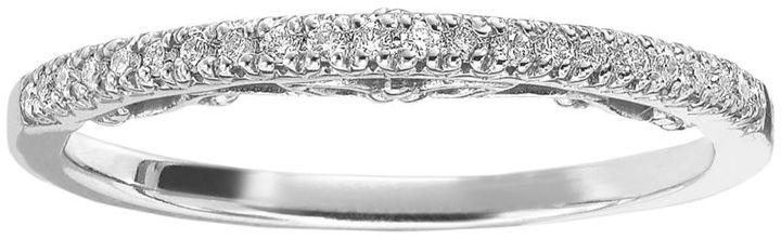 Simply Vera 14k White Gold 1 10 Ct T W Diamond Wedding Ring